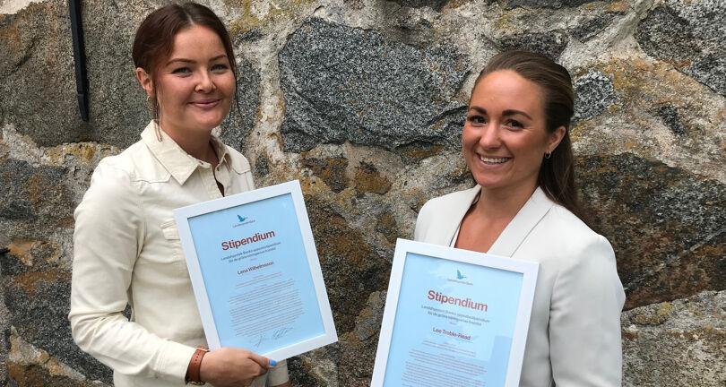 Lee Treble-Read och Lena Wilhelmson, vinnare av Landshypoteks uppsatsstipendium 2021