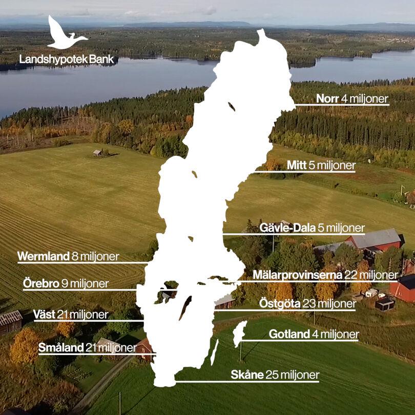 Så fördelas Landshypoteks utdelning regionalt