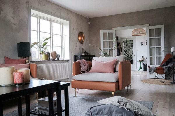 Inredning rosa fåtölj Foto Linda Lundqvist